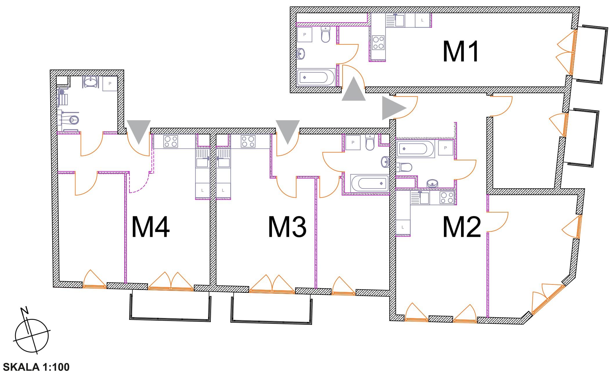 Polna, Poznań, plan piętra